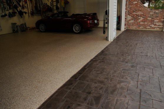 epoxy flooring on a garage